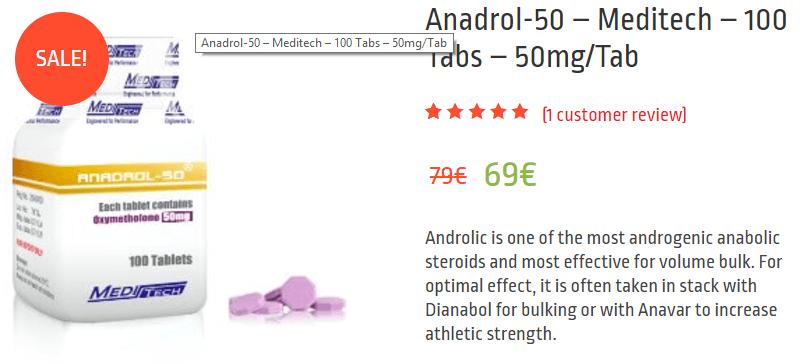 anadrol 50 detection time